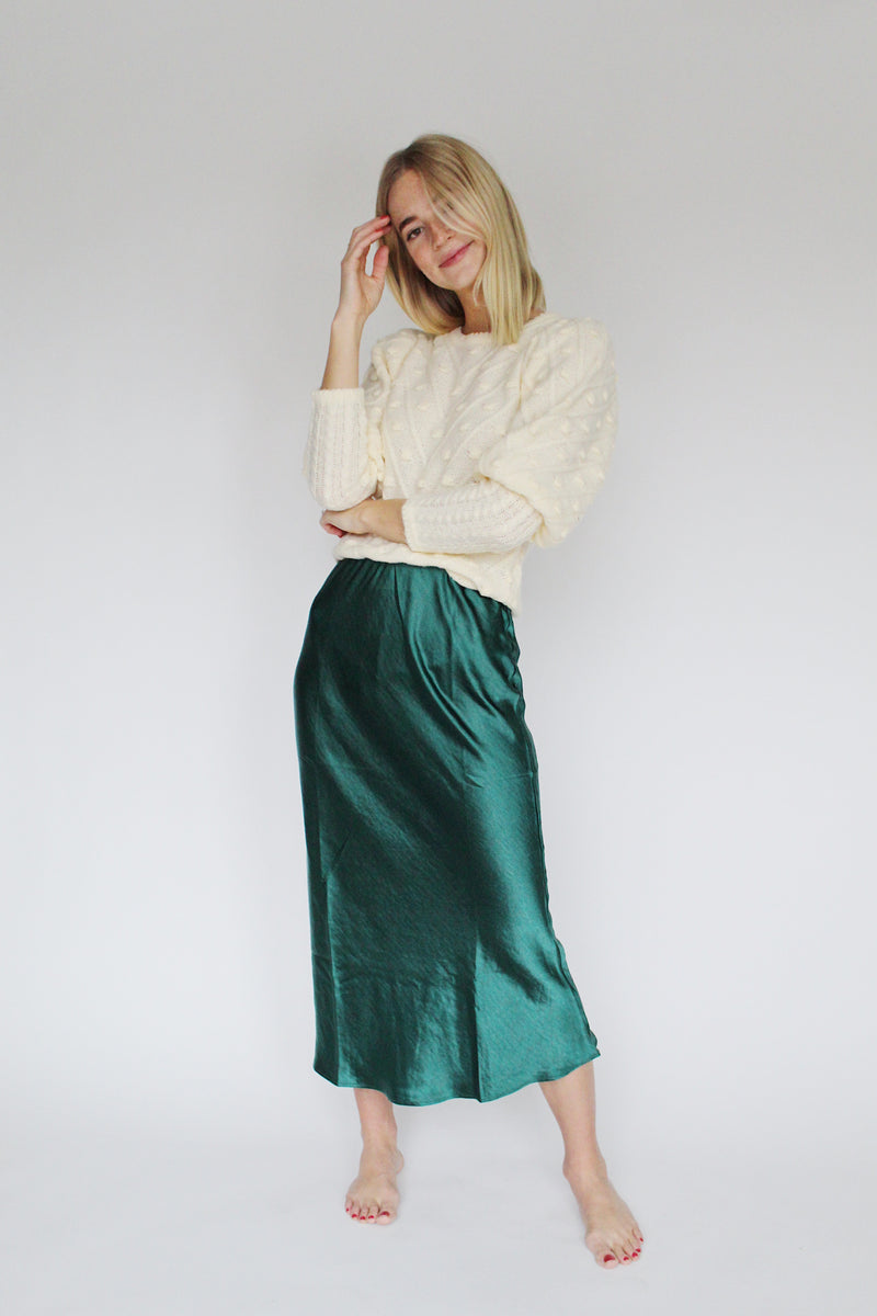Harper Satin Skirt