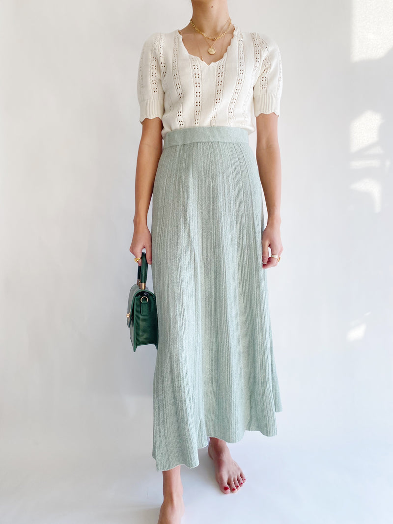 Courtyard Green Skirt