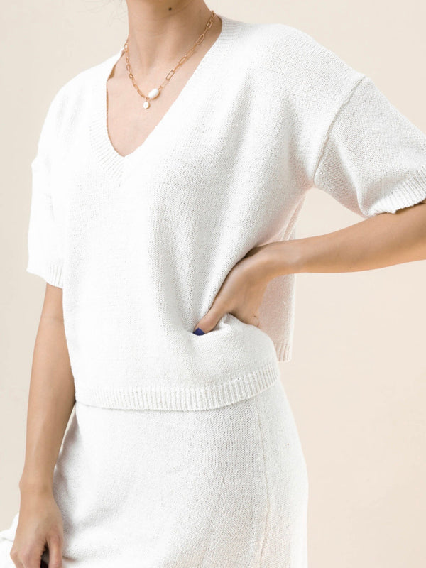 Alva Knit Top - Ivory
