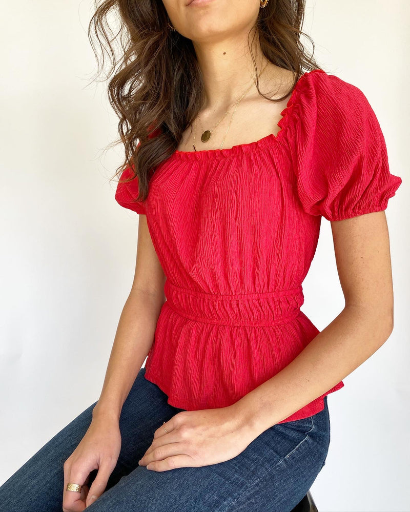 Cosette Red Blouse