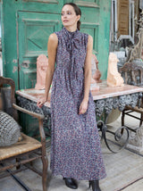 Mirth Athens Dress in Aubergine Floral Print