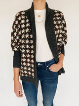 Whitby Houndstooth Cardigan