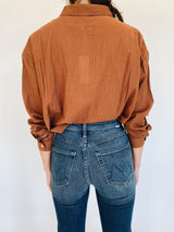 Terracotta Button Up