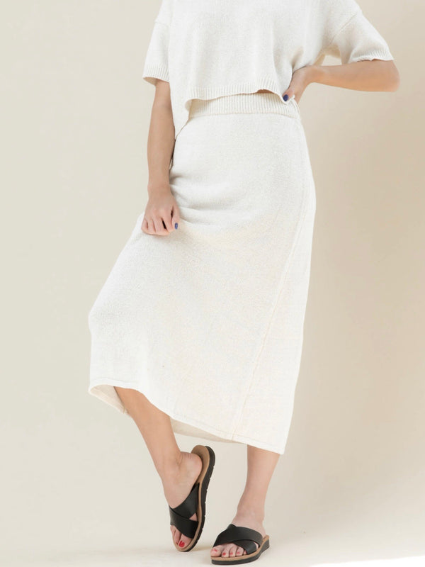 Alva Knit Skirt - Ivory