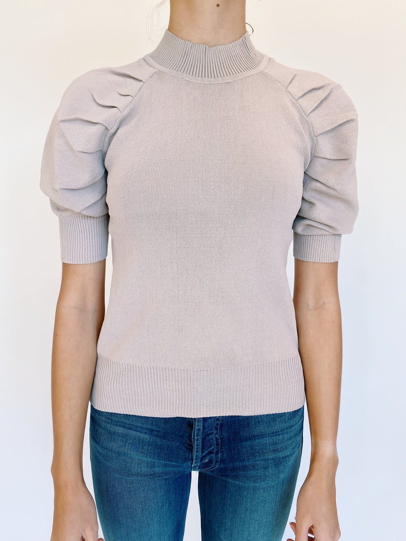 Mallory Pleat Sweater In Lavender