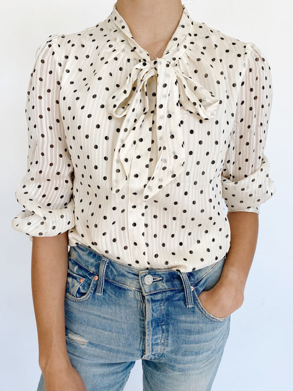Secretary Dot Blouse