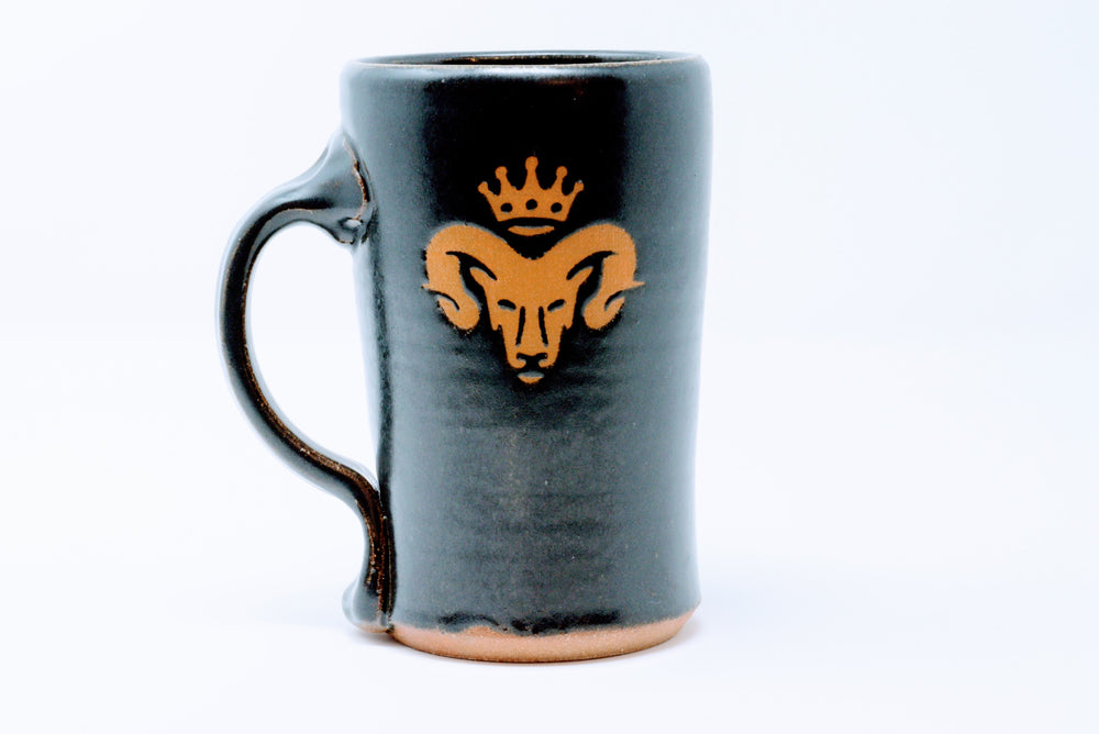 red bison handcrafted mug - Adze Woodcraft and Sundry