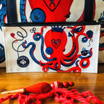 monocled octopus catchie/zipper pouch - Adze Woodcraft and Sundry