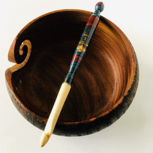 L wood crochet hook