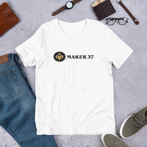 Maker 37 short-sleeve unisex t-shirt - Adze Woodcraft and Sundry