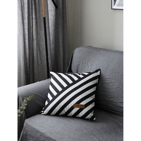 Stripes Print Pillowcase Cover - INspira Collection (45cm x 45cm)