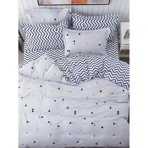 Geometric & Chervon Print Sheet Set - BeddINg Collection
