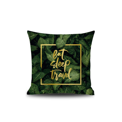 Leaf & Letter Print Pillowcase - INspira Collection (45cm x 45cm)