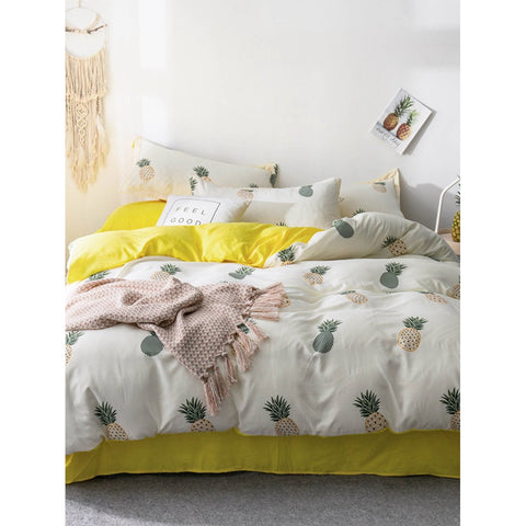 Pineapple Print Sheet Set - BeddINg Collection