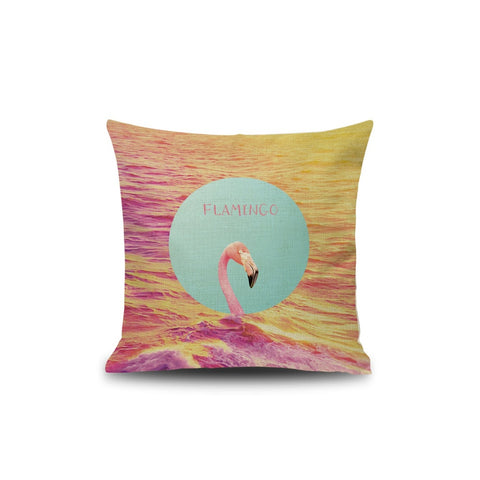 Flamingos Print Pillowcase - INspira Collection (45cm x 45cm)
