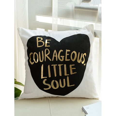 Courageous Print Decorative Pillowcase Cover - INspira Collection (45cm x 45cm)
