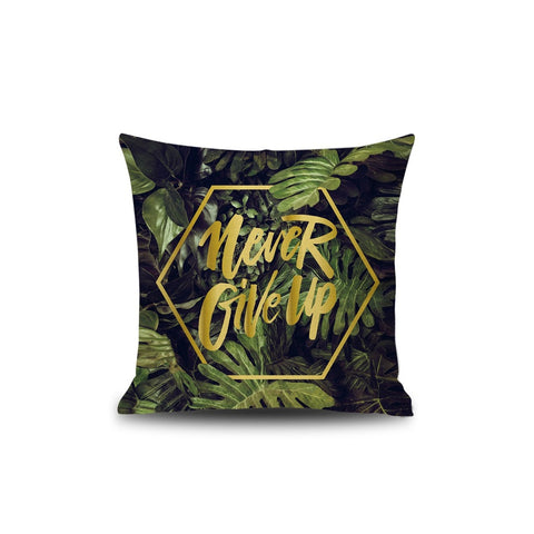 Never Give Up  Print Pillowcase - INspira Collection (45cm x 45cm)