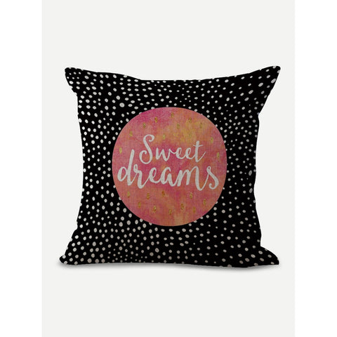 Sweet Dreams Print Pillow Cover - INspira Collection (44cm x 44cm)