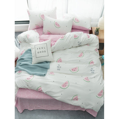 Watermelon & Letter Print Sheet Set - BeddINg Collection