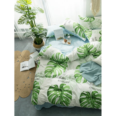 Leaf & Letter Print Sheet Set - BeddINg Collection