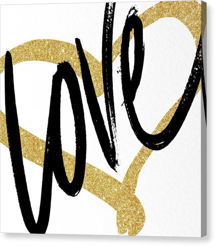 """Gold Heart"" Canvas Print (Multiple Sizes) - INspira Collection"