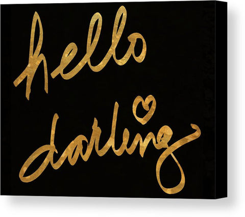 """Hello Darling"" Canvas Print (Multiple Sizes) - INspira Collection"