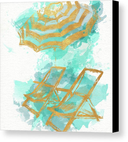 """Gold Shore"" Canvas Print (Multiple Sizes) - INspira Collection"