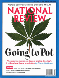 National Review - Cover Story: An End to Marijuana Prohibition