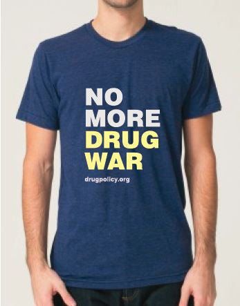 Men's Tri-Indigo No More Drug War Shirt