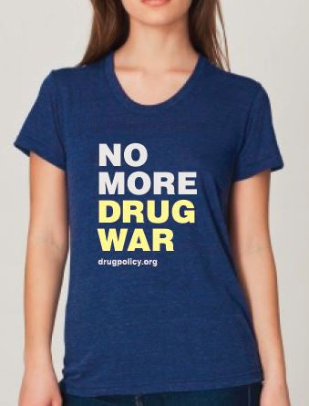Women's Tri-Indigo No More Drug War Shirt