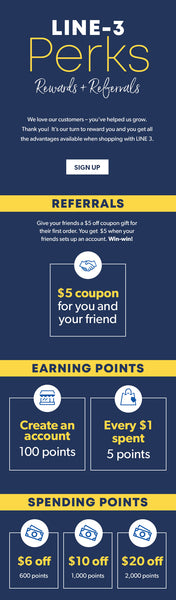 LINE 3 PERKS - Rewards & Referrals