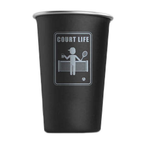 Court Life™ Stainless Steel Cups