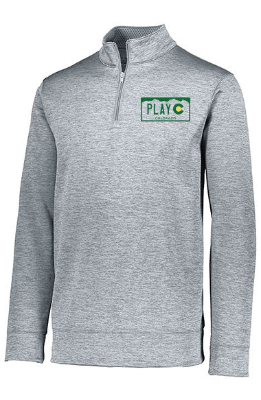 PLAY CO MEN'S 1/4 ZIP PULLOVER - USTA CO LOGO WEAR