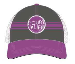 Court Life™ - Purple Trucker Hat