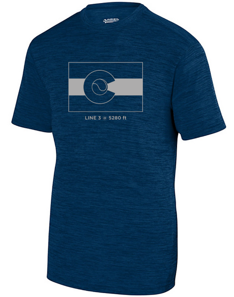CO Flag 5280 - Men's Tonal Performance Tee
