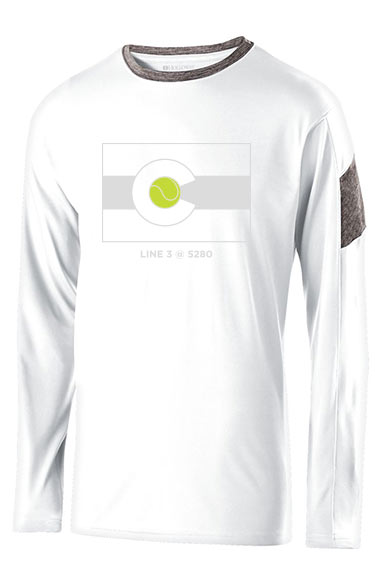 CO Flag 5280 - Men's Performance Long Sleeve Tee