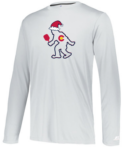 CO Santa PICKLEBALL Yeti - Men's Performance Long Sleeve Tee