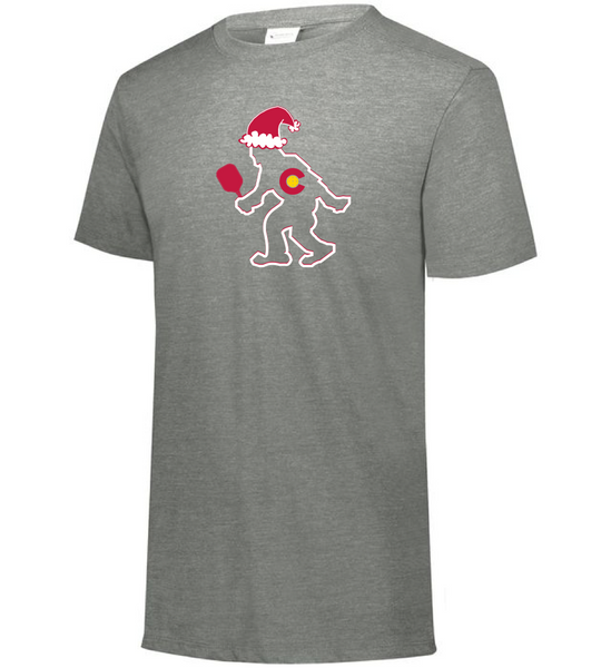 CO Santa PICKLEBALL Yeti - MEN'S Tri-Blend Tee