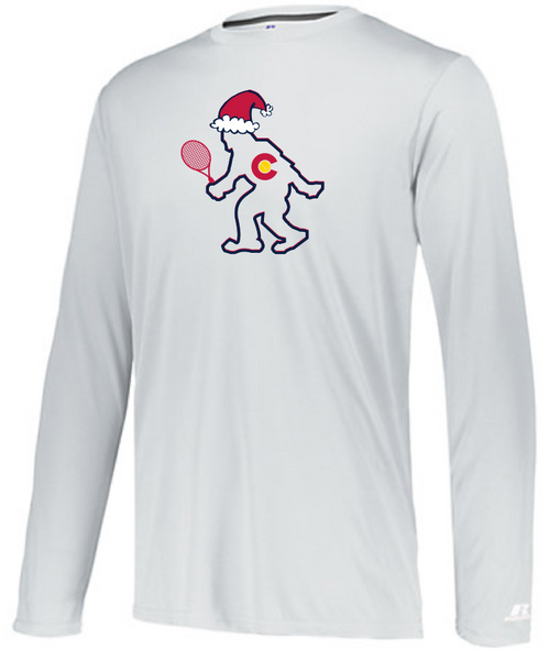 CO Santa TENNIS Yeti - Men's Performance Long Sleeve Tee
