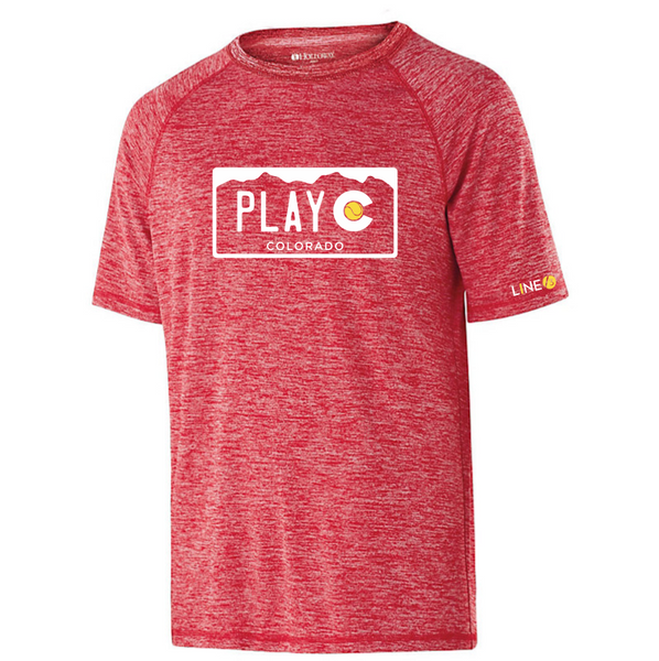 PLAY CO MEN'S PERFORMANCE TEE - USTA CO LOGO WEAR