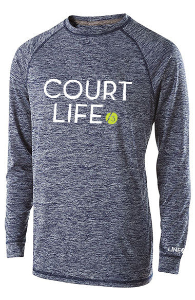 Court Life™ V2- Men's Performance Long Sleeve Tee