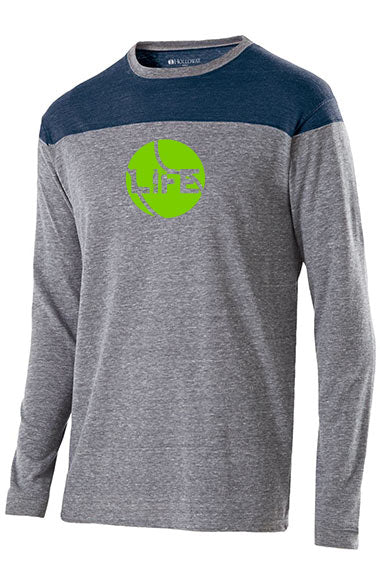 Court Life™ 2018 - Men's Long Sleeve Tri-Blend Tee