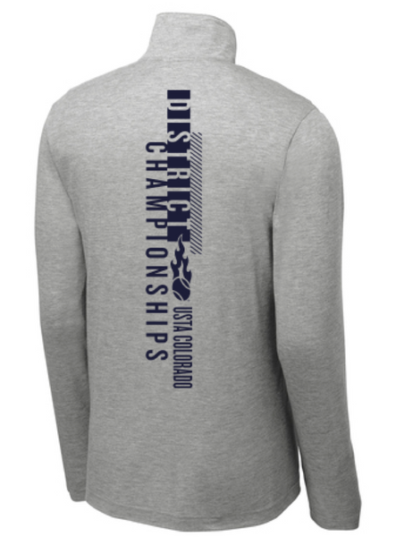 USTA CO District Championships - MEN'S TRI-BLEND 1/4 ZIP