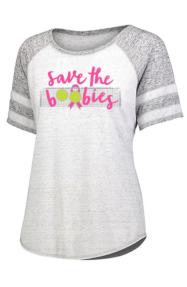 Breast Cancer -  Save the Boobies™ -  Women's Raglan Tee