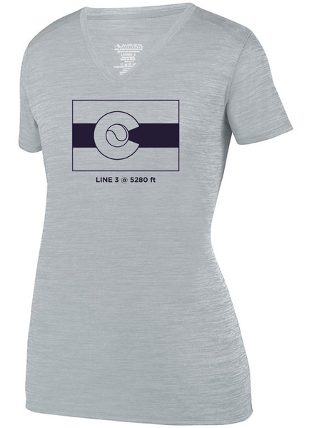 CO Flag 5280 - Women's Tonal Performance Tee