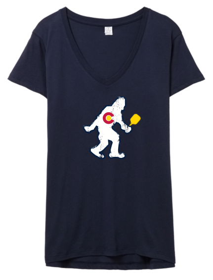 CO PICKLEBALL Yeti - Women's V-Neck Tee