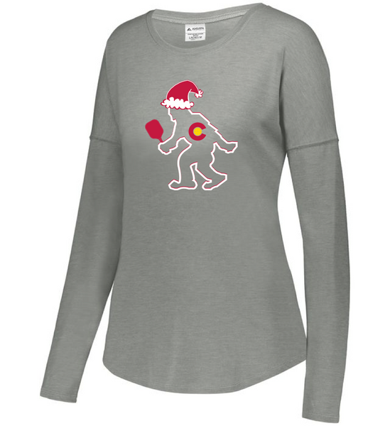 CO Santa PICKLEBALL Yeti - Women's LS Tri-Blend