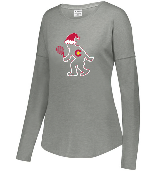CO Santa TENNIS Yeti - Women's LS Tri-Blend