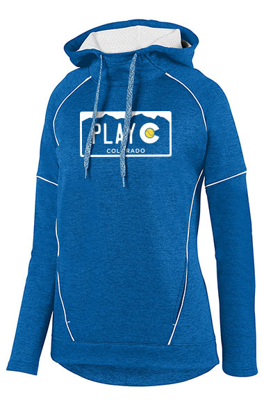PLAY CO WOMEN'S FLEECE HOODIE - USTA CO LOGO WEAR
