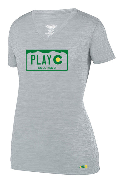 WOMEN'S PLAY CO TEE - USTA COLORADO LOGO WEAR